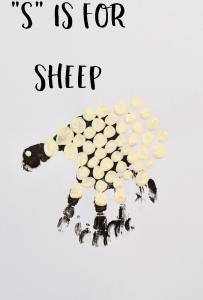 "Letter ""S"" Sheep Handprint Art for Preschoolers"