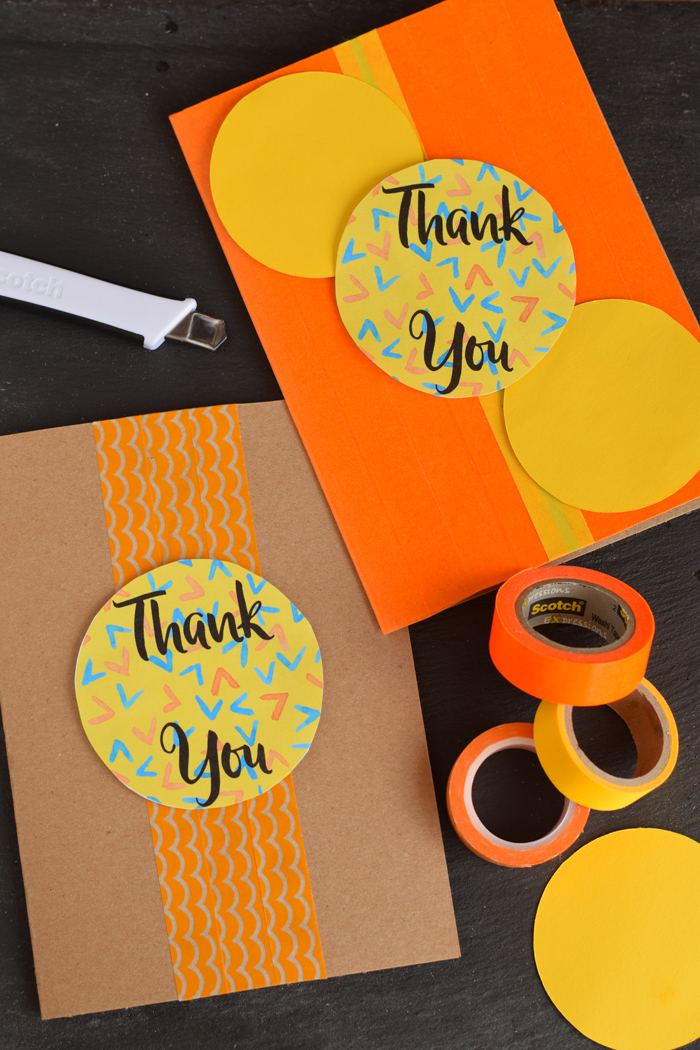 bright and cheery thank you cards with free printable