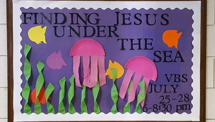 Finding Jesus Under the Sea VBS Bulletin Board