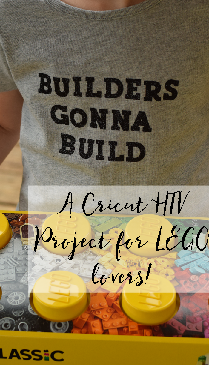 Builders Gonna Build HTV Shirt Inspired by LEGO® Classic and made with heat transfer vinyl and the Cricut Explore