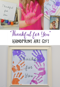 Thankful For You Handprint Gift AD
