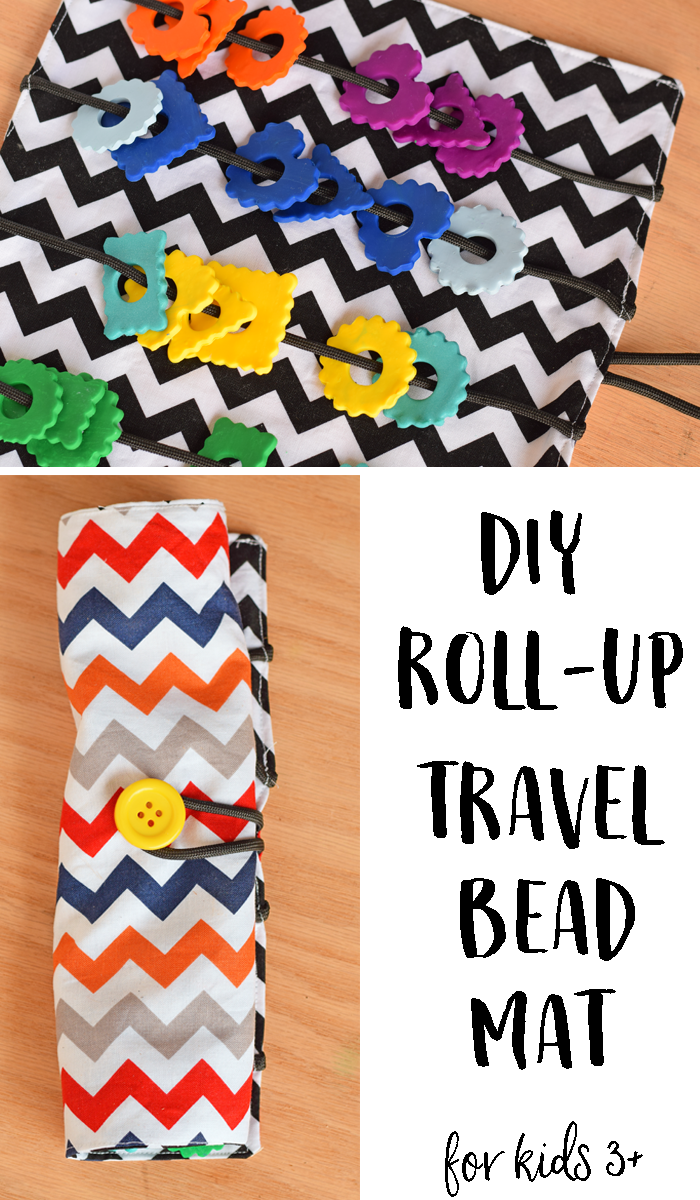 Make your own clay beads for this DIY Travel Roll Up Bead Mat. This activity is for adults to make and for kids 3 and over only to use. #GetPackin AD