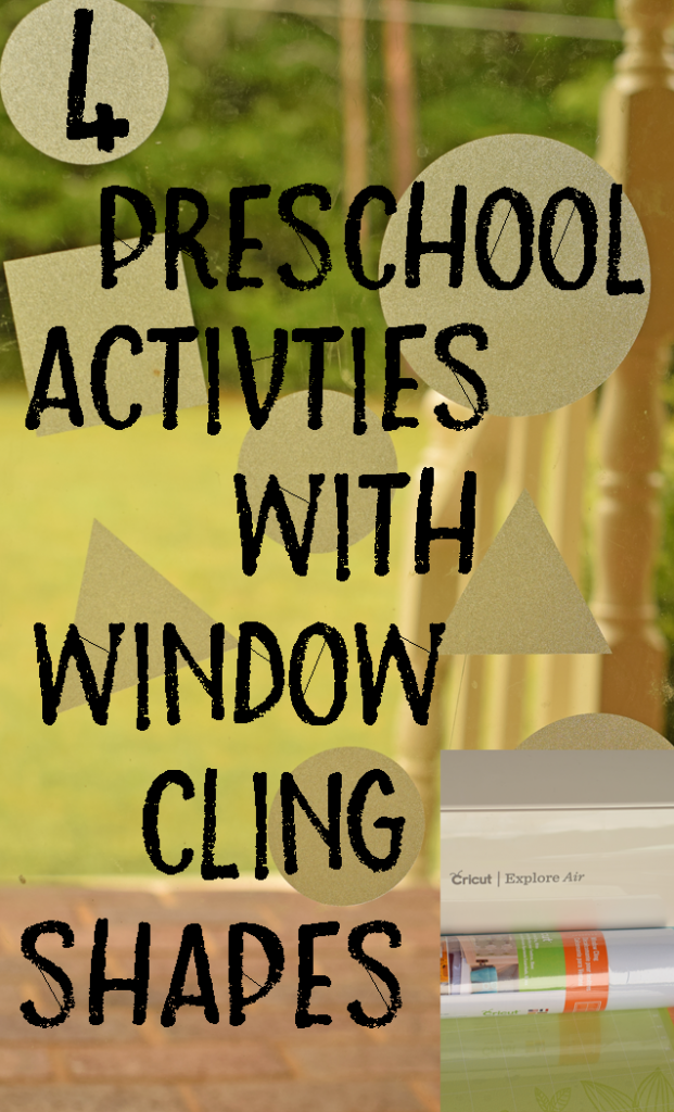 4 Preschool Activities with Window Cling Shapes {a Cricut project}