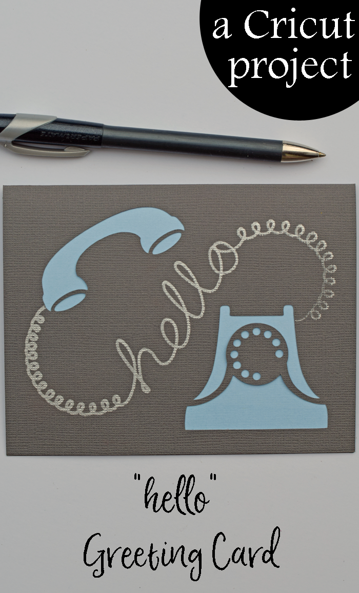 Hello Greeting Card {a Cricut project}