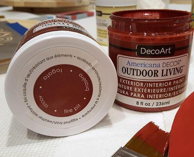 DecoArt Fire Pit Red