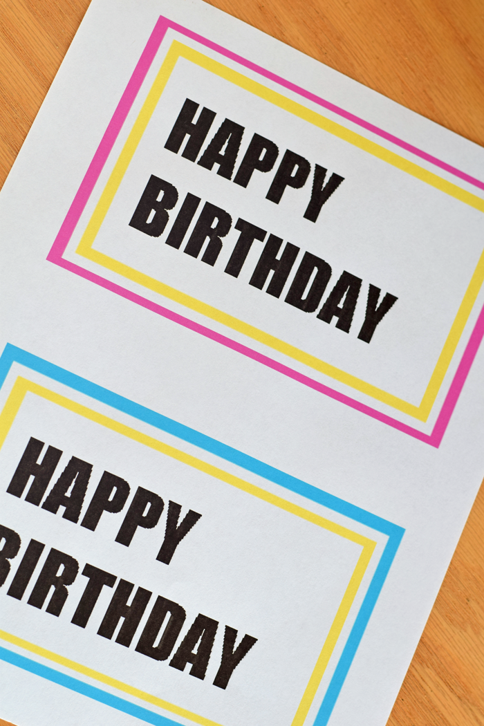 Free printable Happy Birthday Lunch Box Note