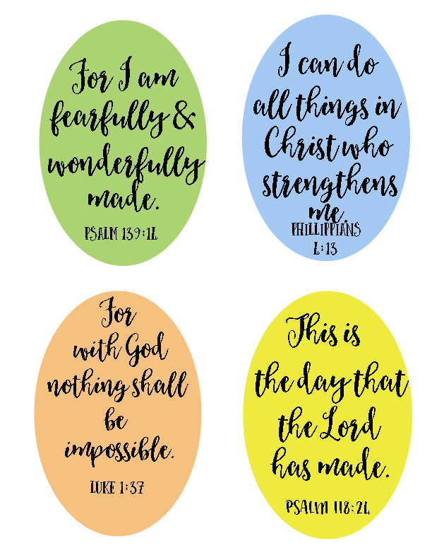 Free Printable Bible Verse Lunchbox Notes