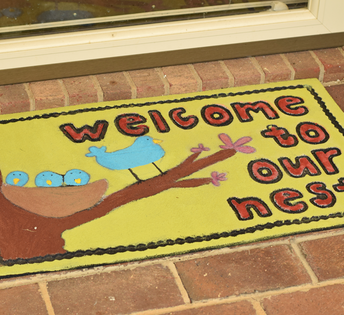 Painted Front Porch Mat