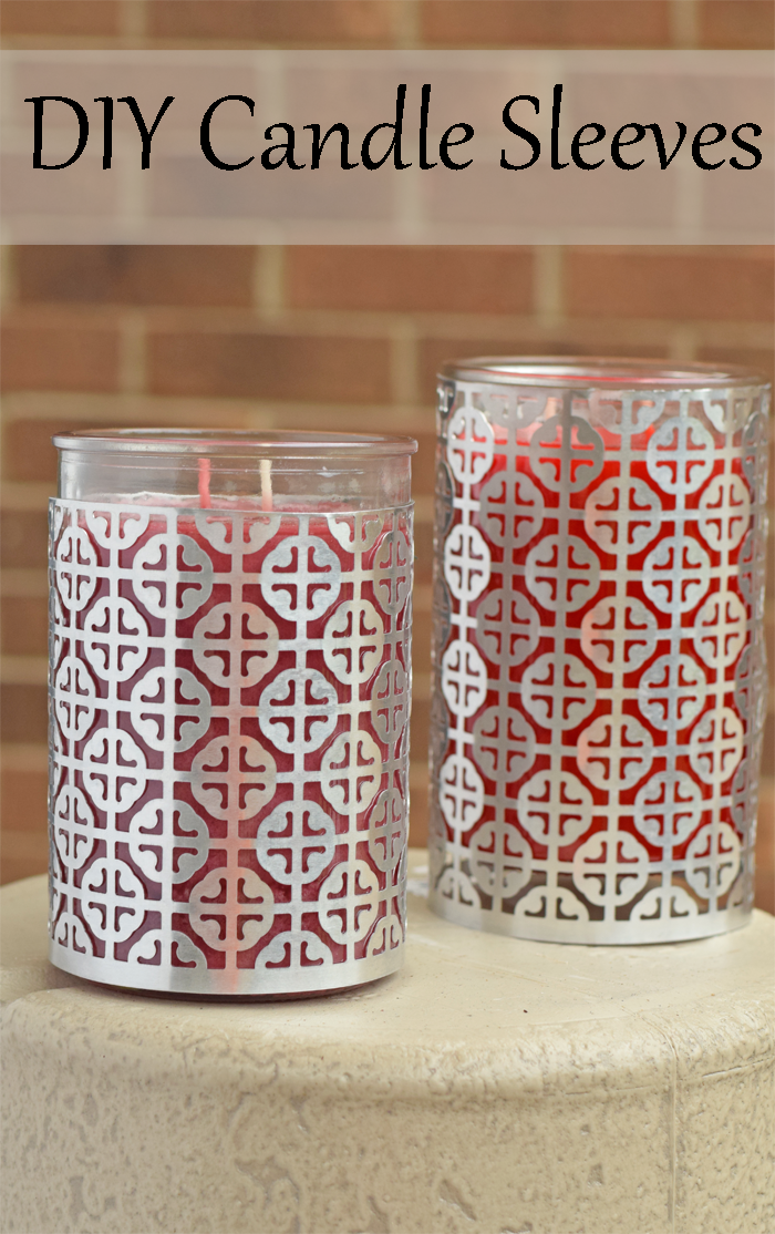 With the right supplies, these DIY Aluminum Candle Sleeves are easier than you think! AD