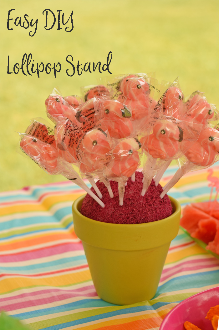 Easy DIY Lollipop Stand for a children's party