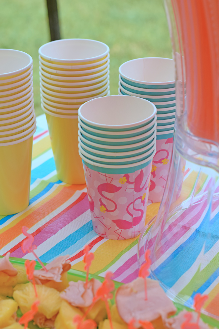 Flamingo Birthday Party Ideas for an inexpensive outdoor kid's party