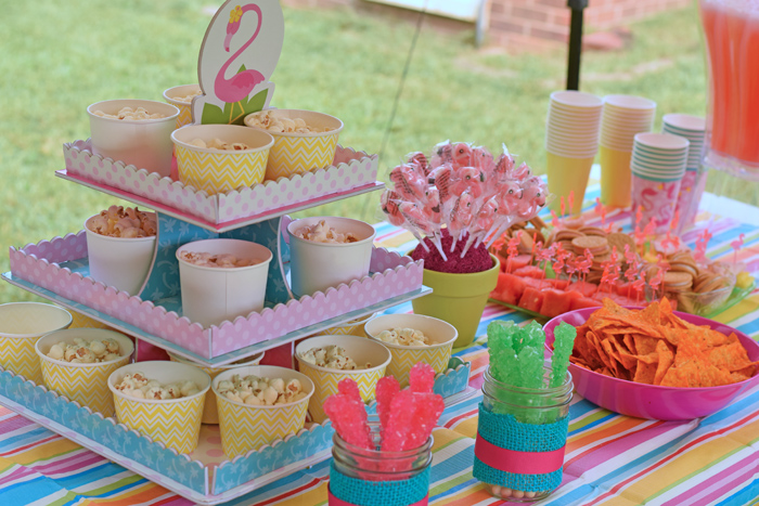 Flamingo Birthday Party Ideas for an inexpensive outdoor party
