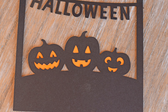 Happy Halloween Greeting Card made easy with a Cricut cut file