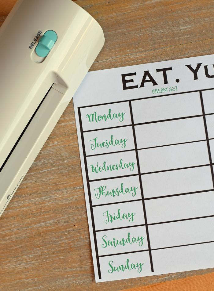 Weekly Meal Planner Printable AD