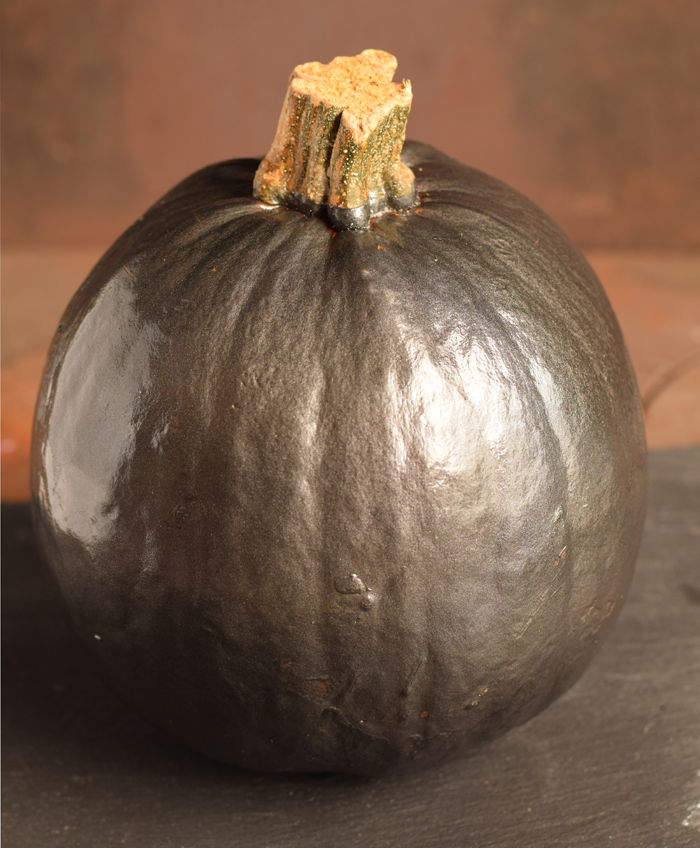 Boo Metallic Painted Pumpkin for fall or Halloween