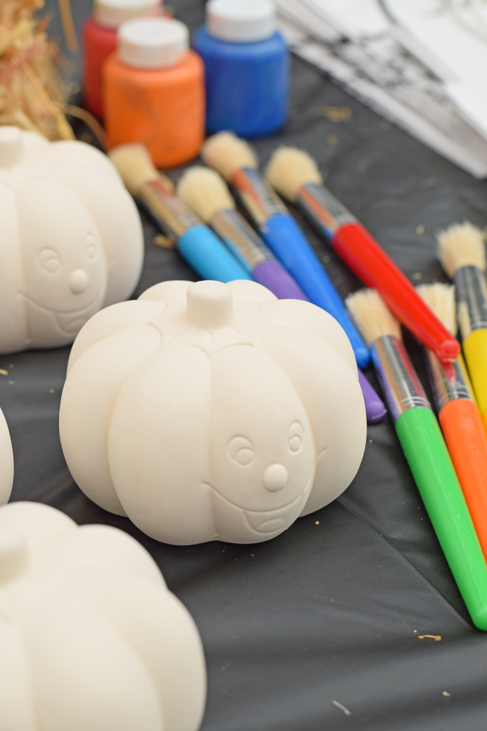 This Decorate a Pumpkin Party is child friendly and requires NO Pumpkin carving! It is a great idea for a fun Halloween themed party.