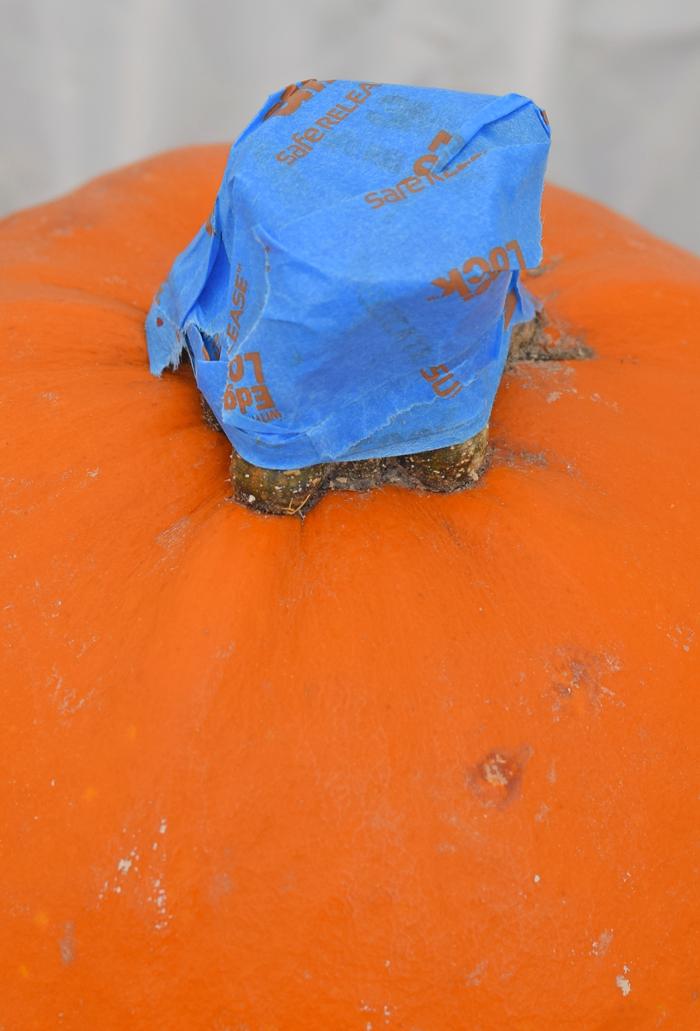 Boo Metallic Painted Pumpkin for fall or Halloween