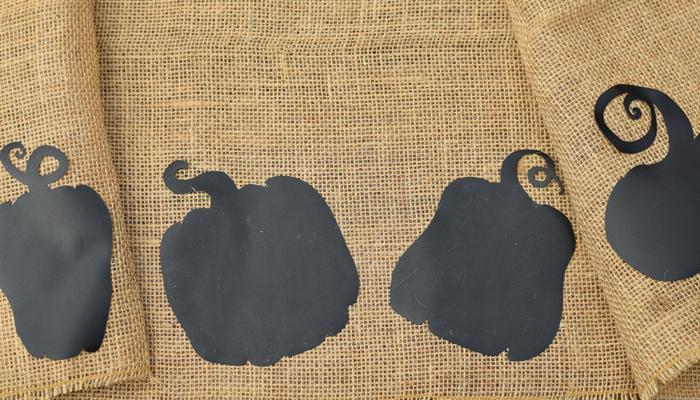 [ad] Burlap Table Runner with Chalkboard Vinyl