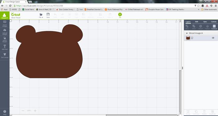 Bear Head Pattern with Cricut Explore Air AD