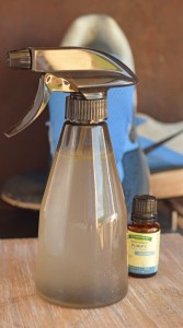 Use essential oils to make a DIY Shoe Deodorizer for stinky shoes AD