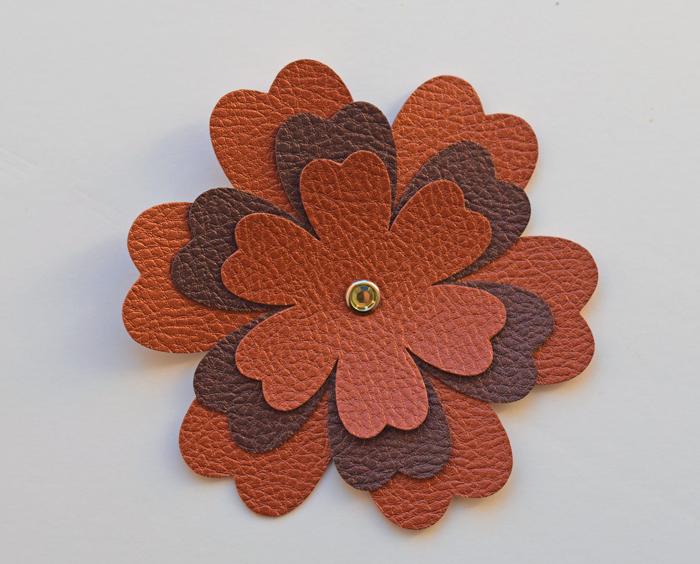 DIY Faux Leather Flower Headband AD