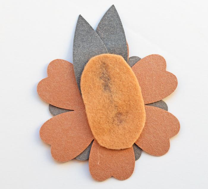 DIY Faux Leather Flower Headband