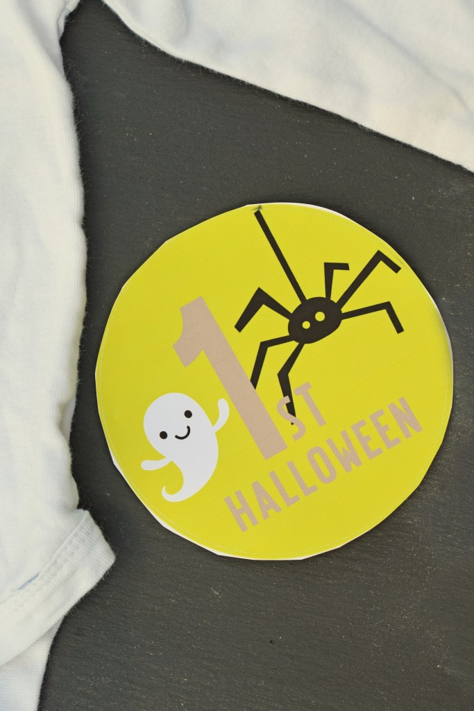 Baby's First Halloween Printable Vinyl Sticker made with the Cricut Explore AD