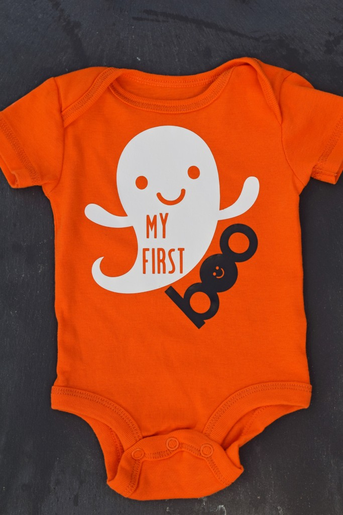 My First Boo Halloween Onepiece made with the Cricut Explore AD