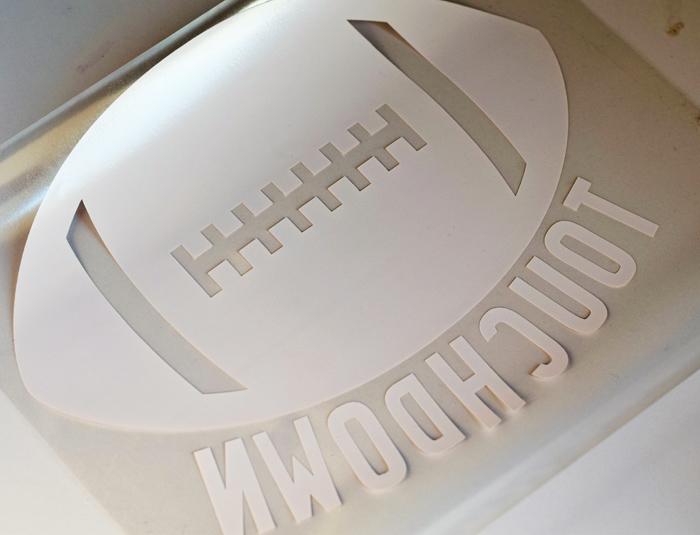 DIY Touchdown Football Shirt with Heat Transfer Vinyl {ad}