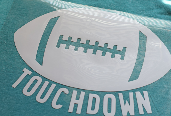 DIY Touchdown Football Shirt with Heat Transfer Vinyl {ad}
