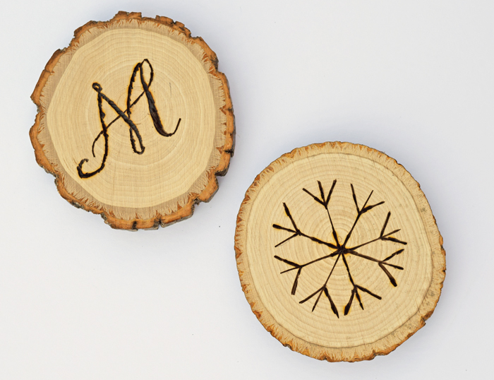 Wood Slice Coasters AD