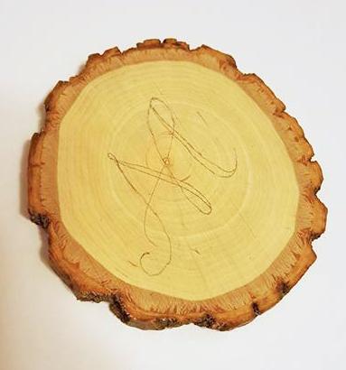 Wood Slice Coasters AD