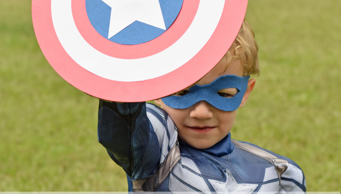 Last Minute DIY Costume Shield