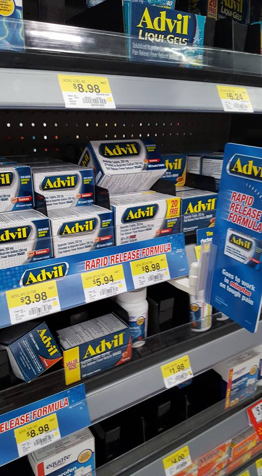 Advil Rapid Release tablets AD