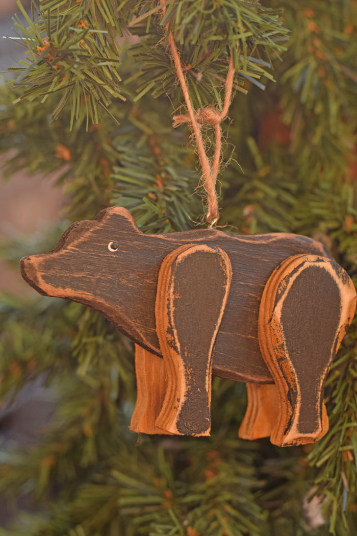 Woodland Inspired Bear Ornament