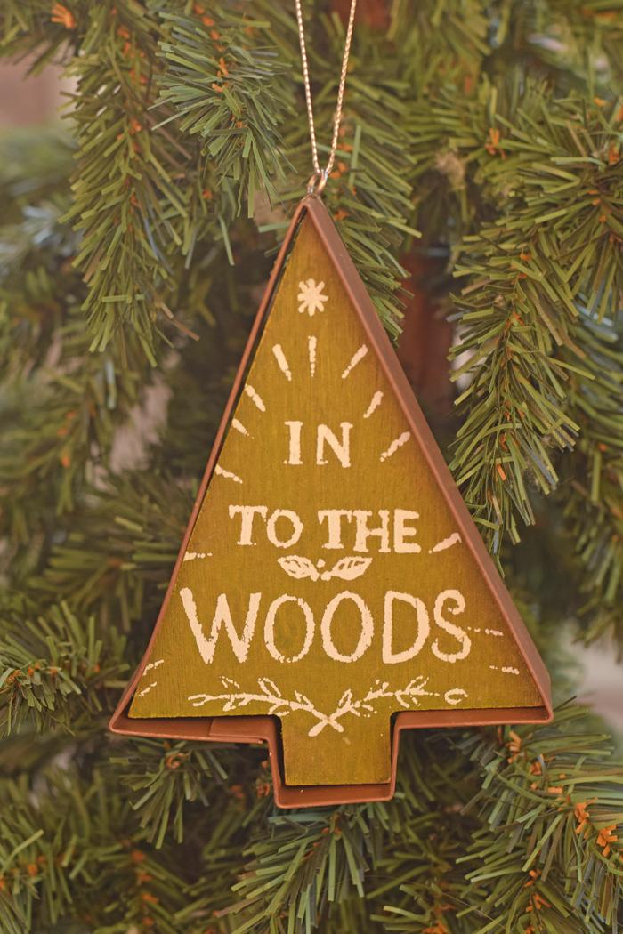 Woodland Inspired Christmas Tree Ornament