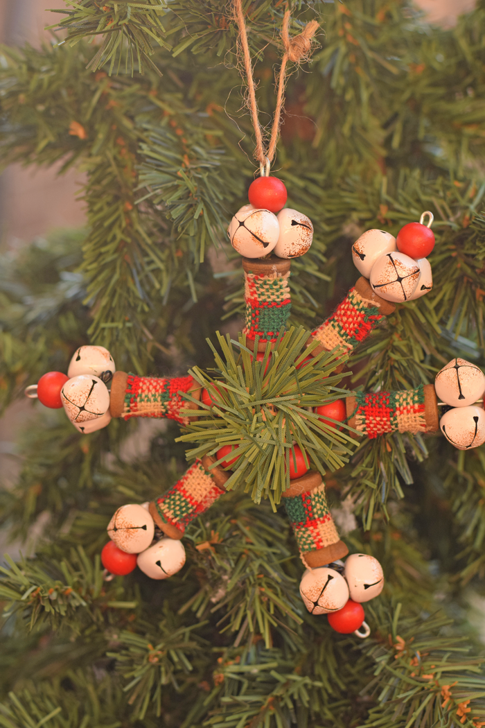 Jingle Bell Ornament with plaid