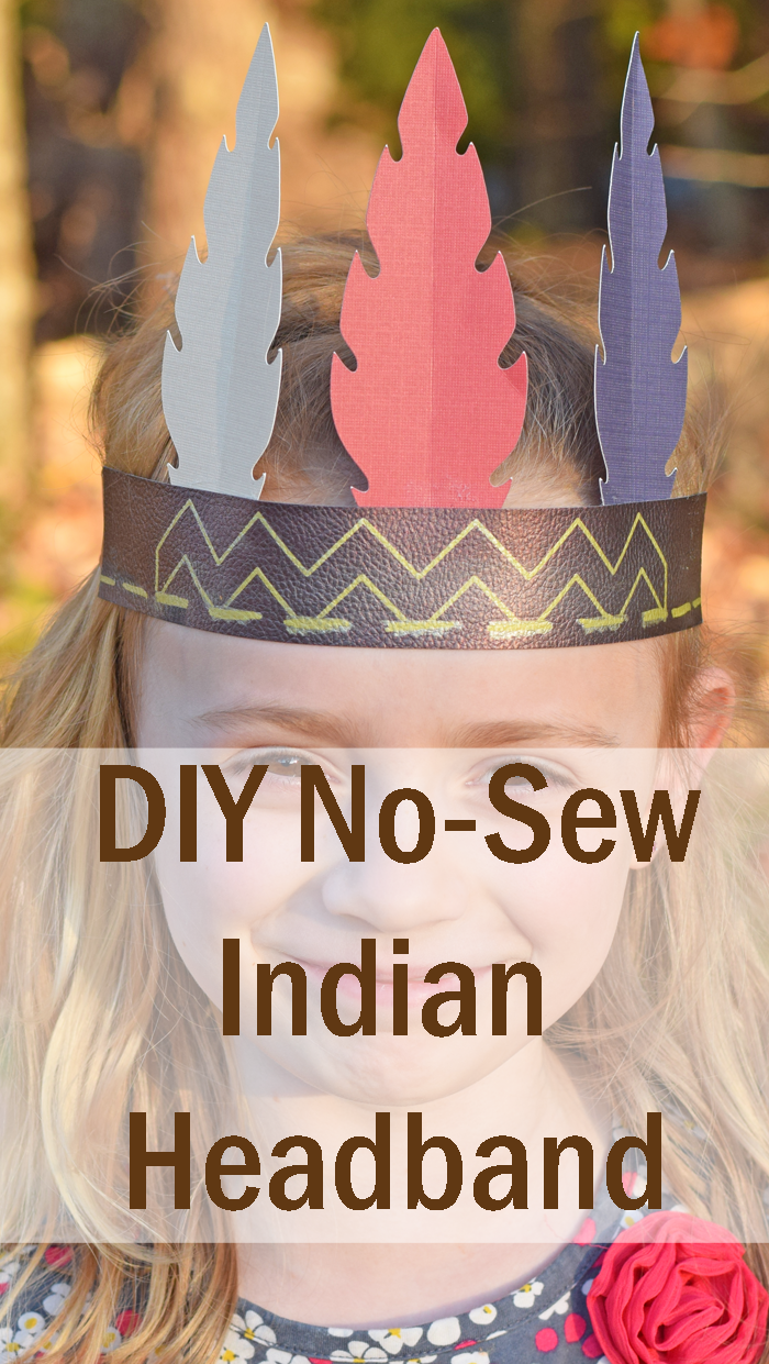 DIY No-Sew Indian Headband for kids for Thanksgiving AD