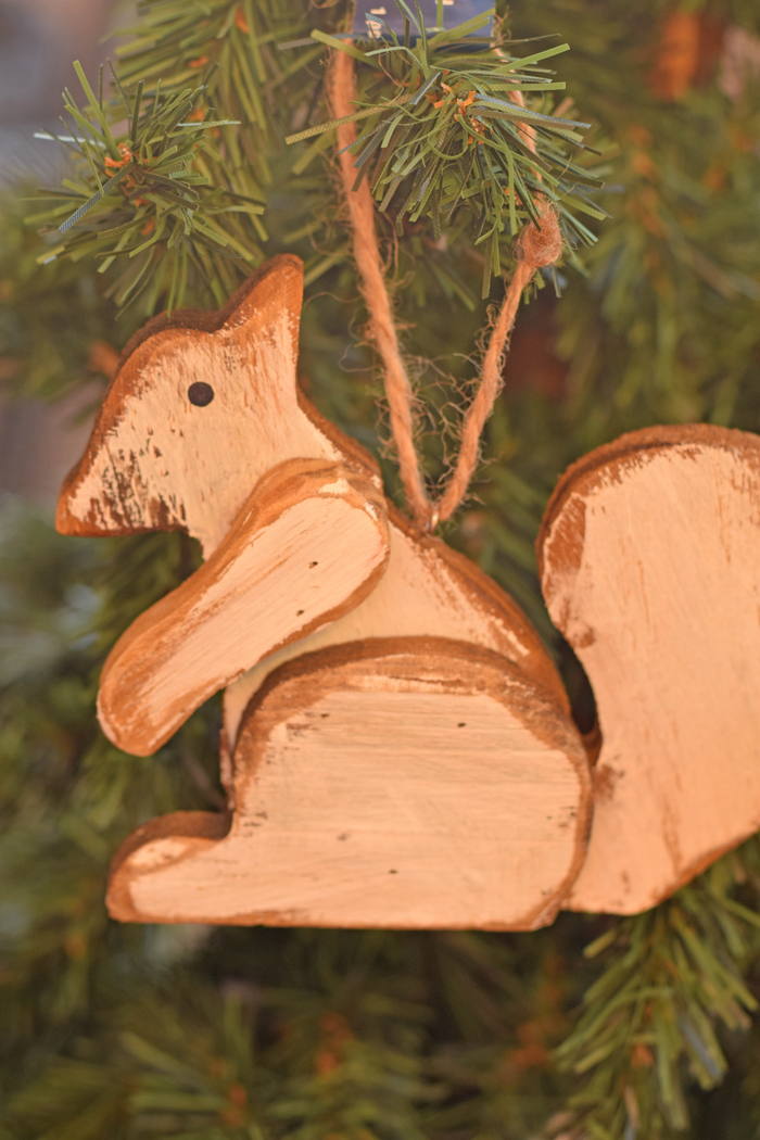 Woodland Inspired Squirrel Ornament