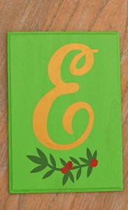 DIY Monogram Plaque, Decor, or Christmas Ornament idea AD