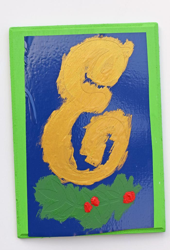 DIY Monogram Plaque, Decor, or Christmas Ornament idea AD