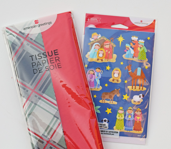 American Greeting Tissue Paper and Stickers AD