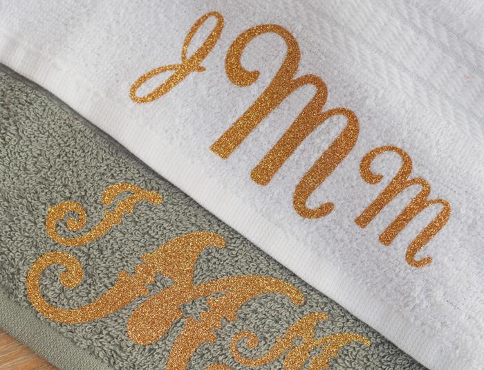 Diy Monogram Towels And A Spa Gift Basket