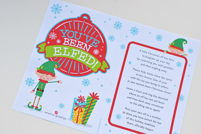 Free Elfing Printable from American Greetings AD