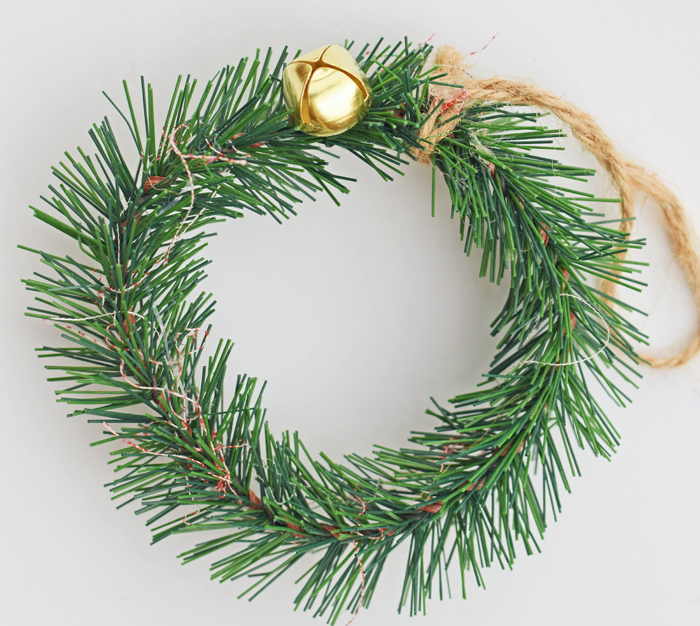 Create a Jingle Bell Wreath Ornament for a Christmas tree or gift AD