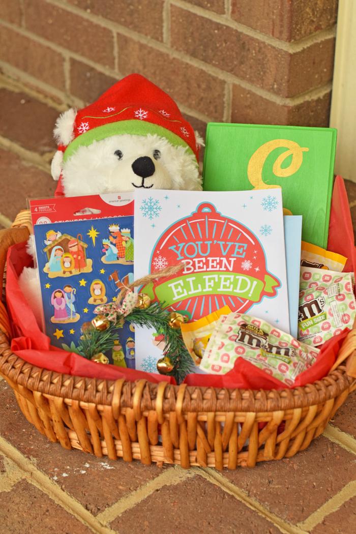 Elfing Neighbor Gift Basket AD