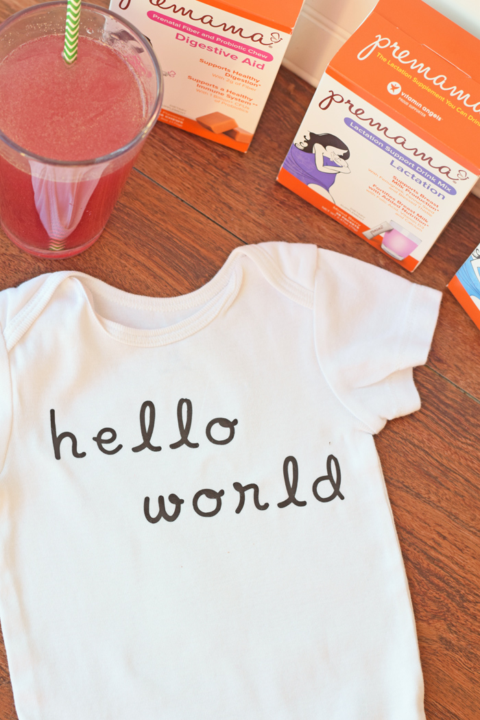 DIY Newborn Baby One-Piece made with heat transfer vinyl AD