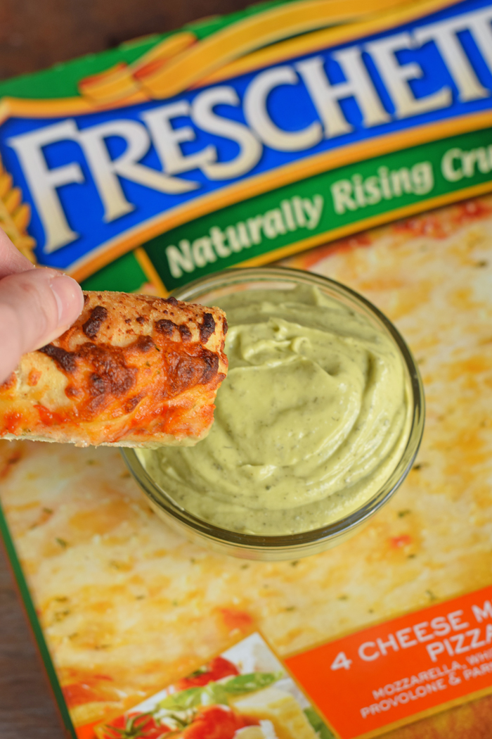 Avocado Ranch Dip for Pizza Crust AD