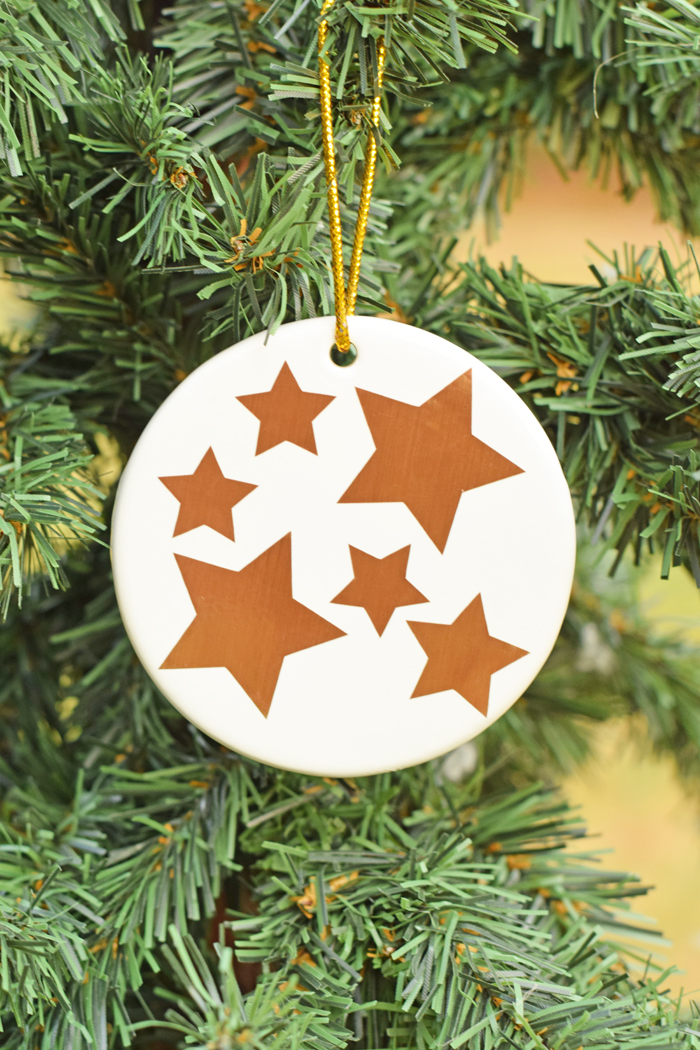 DIY Family Ornament with Cricut Adhesive Foil