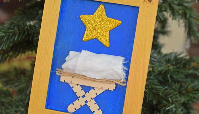 Nativity Craft Hanging for Kids AD
